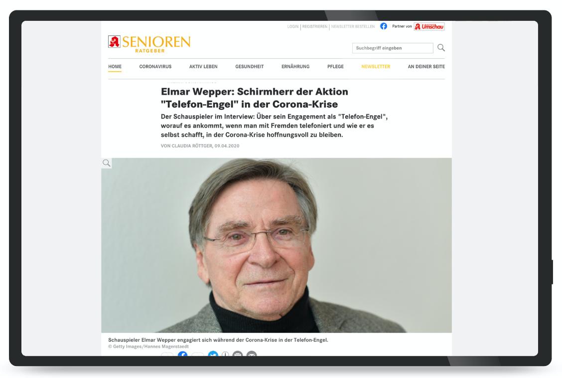 screenshot Senioren-Ratgeber